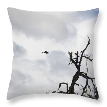 Throw Pillow featuring the photograph Watch Out For That Tree by Marie Neder