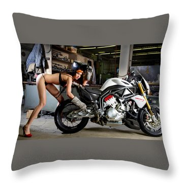 Watch Out For The Sparks Throw Pillow by Lawrence Christopher