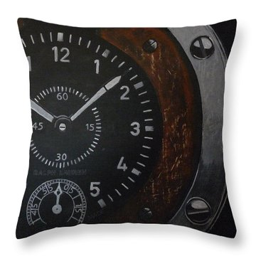 Throw Pillow featuring the painting Watch by Richard Le Page