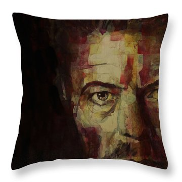 Watch That Man Bowie Throw Pillow