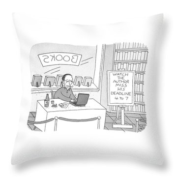 Watch The Author Miss His Deadline Throw Pillow