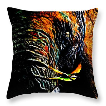 Watch The Birdie Throw Pillow by Maris Sherwood