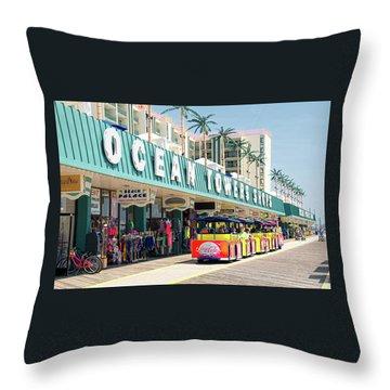 Watch The Tram Car - Wildwood, Nj Throw Pillow