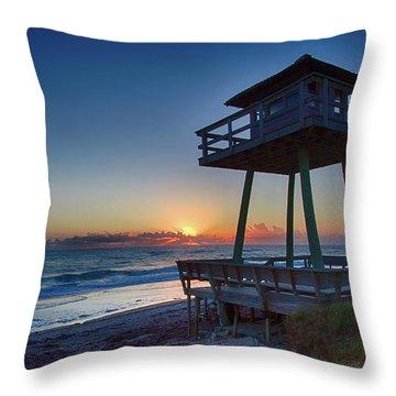 Watch Tower Sunrise 2 Throw Pillow