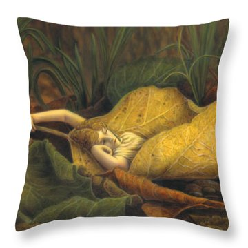 Watch Where You Step Throw Pillow