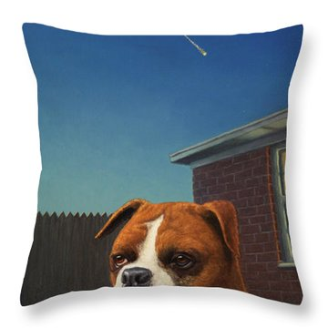 Watchdog Throw Pillow by James W Johnson