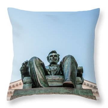 Watchful Abe Throw Pillow