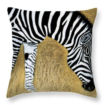 Watchful Eye Throw Pillow by Jan Amiss
