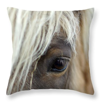 Watchful One Throw Pillow by Linda Mishler