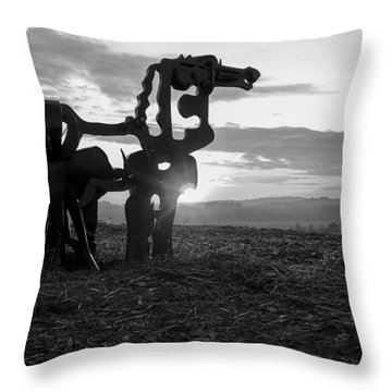 Watchful The Iron Horse  Throw Pillow