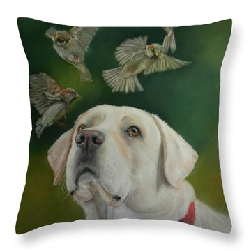 Watching Birds Throw Pillow
