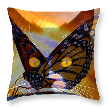 Throw Pillow featuring the photograph Watching Butterlies by David Lee Thompson