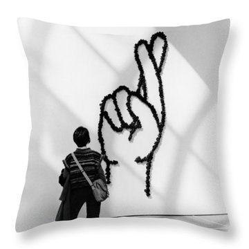 Watching Figers Crossed  Throw Pillow
