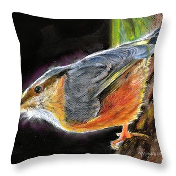 Watching For Spring Throw Pillow