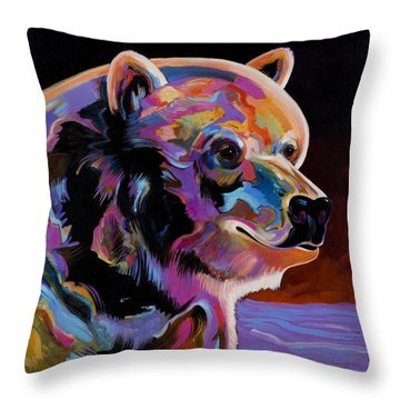 Throw Pillow featuring the painting Watching For The Catch by Bob Coonts