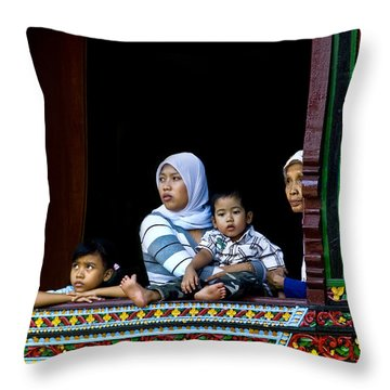 Watching From A Window Throw Pillow by Charuhas Images