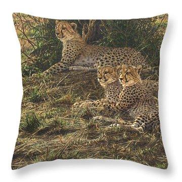 Watching Mam Throw Pillow