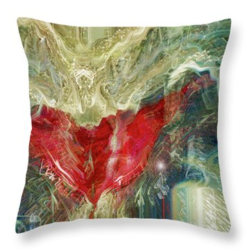 Throw Pillow featuring the digital art Watching Over  by Linda Sannuti