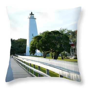 Watching Over Ocracoke Throw Pillow
