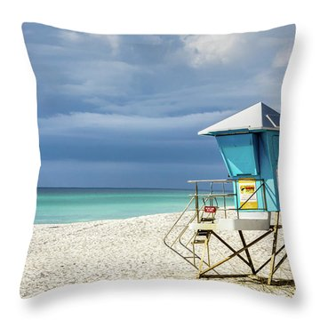 Lifeguard Tower Florida Gulf Coast Throw Pillow
