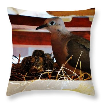 Watching Over Throw Pillow