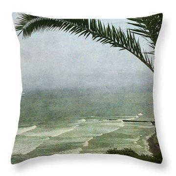 Watching The Boats Come In Throw Pillow