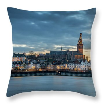 Watching The City Lights, Nijmegen Throw Pillow