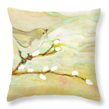 Watching The Clouds No 3 Throw Pillow