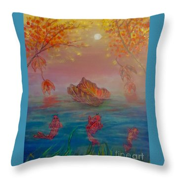 Watching The Dance Of The Fallen Elements Throw Pillow