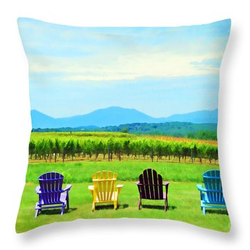 Watching The Grapes Grow Throw Pillow