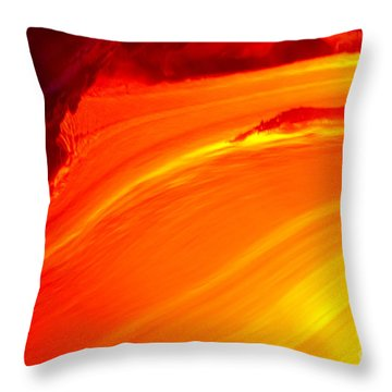 Watching The Lava Flow Throw Pillow by Erik Aeder - Printscapes