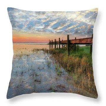 Watching The Sun Rise Throw Pillow