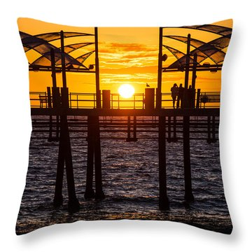 Watching The Sunset Throw Pillow by Ed Clark