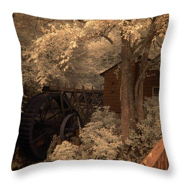 Watching The Wheels Throw Pillow