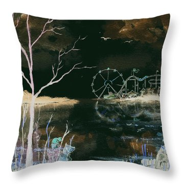 Watching The World Go Round Inverted Throw Pillow