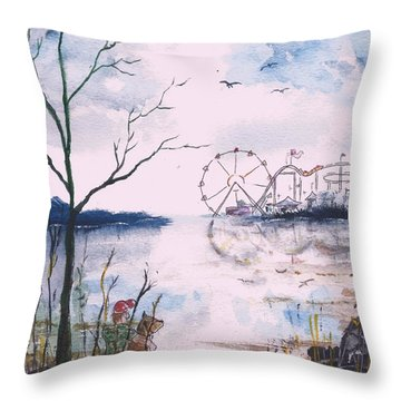Watching The World Go Round Throw Pillow