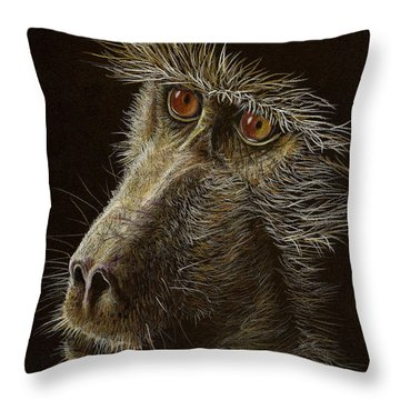 Throw Pillow featuring the drawing Watching You by Heidi Kriel