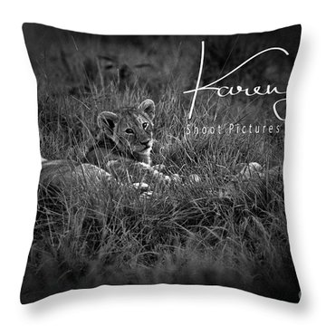 Throw Pillow featuring the photograph Watching You Watching Me by Karen Lewis
