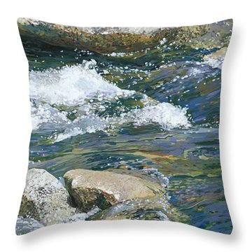 Water 2 Throw Pillow by Nadi Spencer