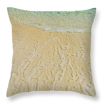 Water Abstract 1 Throw Pillow
