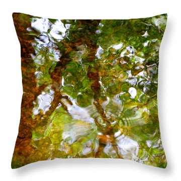 Water Abstract 17 Throw Pillow by Joanne Baldaia - Printscapes