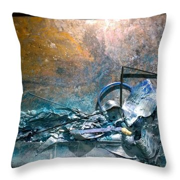 Water Abstract #31017 Throw Pillow