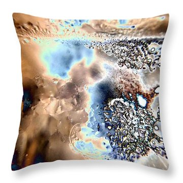 Water Abstract 9 Throw Pillow