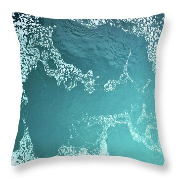 Water Abstract No. 1-1 Throw Pillow