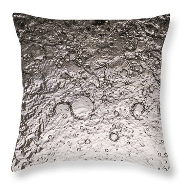 Water Abstraction - Liquid Metal Throw Pillow by Alex Potemkin