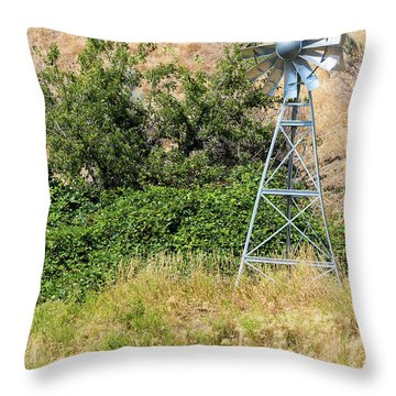 Water Aerating Windmill For Ponds And Lakes Throw Pillow
