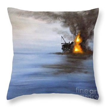 Water And Air Pollution Throw Pillow by Annemeet Hasidi- van der Leij
