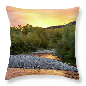 Water And Sky Throw Pillow by Mary Hone