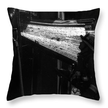 Water And Soot Throw Pillow