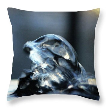 Water Angel Wings Throw Pillow